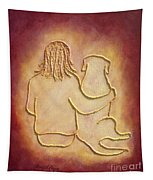 Being There 3 - Dog And Friend Tapestry