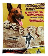 Belgian Malinois Art Canvas Print - North By Northwest Movie Poster Tapestry
