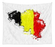 Belgium Painted Flag Map Tapestry
