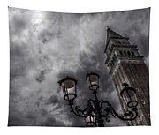 Bell Tower And Street Lamp Tapestry