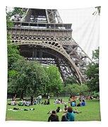 Below The Eiffel Tower Tapestry