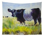 Belted Galloway Cow Tapestry