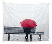 Bench And Umbrella Tapestry