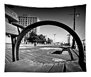 Bench View Black/white Tapestry