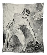 Beowulf Shears Off The Head Of Grendel Tapestry