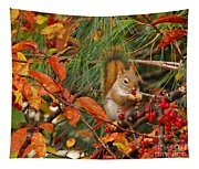 Berry Loving Squirrel Tapestry