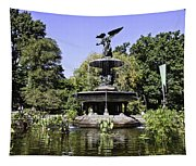 Bethesda Fountain Iv - Central Park Tapestry