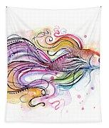 Betta Fish Watercolor Tapestry by Olga Shvartsur