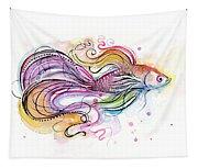 Betta Fish Watercolor Tapestry