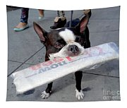 Betty The News Dog Tapestry