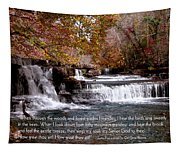 Bible Verse And Inspirational Greeting Card Autumn Fine Art Photography Prints And Posters. Tapestry