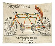 Bicycle For 2 Tapestry
