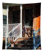 Bicycle On Porch Tapestry