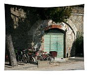 Bicycle Stop Tapestry