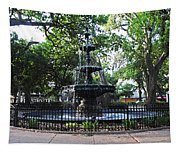 Bienville Fountain Mobile Alabama Tapestry