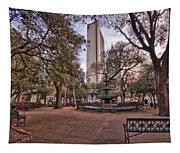 Bienville Spring With Benches Tapestry