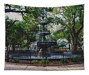 Bienville Square Fountain Closeup Tapestry
