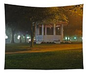 Bienville Square Grandstand In A Foggy Mist Tapestry