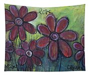 Big And Bright Daisies Tapestry
