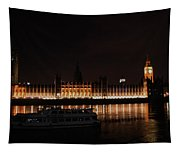 Big Ben And The Houses Of Parliment On The Thames Tapestry