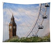 Big Ben And The London Eye Tapestry