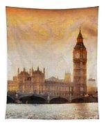 Big Ben At Dusk Tapestry
