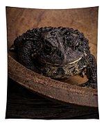 Big Black Toad Tapestry