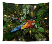 Big Glider Macaw Digital Art Tapestry