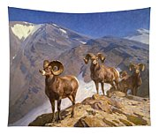 Big Horn Sheep On Wilcox Pass Tapestry