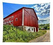 Big Red Barn Tapestry
