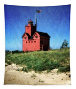 Big Red With Flag Tapestry