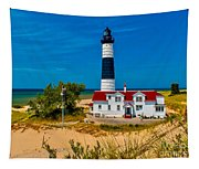 Big Sable Light On The Shore Tapestry