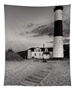 Big Sable Point Lighthouse In Black And White Tapestry
