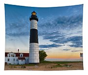 Big Sable Point Lighthouse Sunset Tapestry