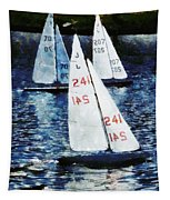 Big Sailors And Little Boats Tapestry