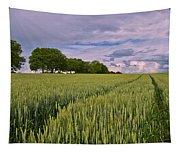 Big Sky Montana Wheat Field  Tapestry