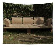 Big Stone Bench Inside The Garden Of 5 Senses Tapestry
