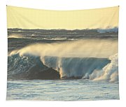 Big Surf At Sunset Tapestry