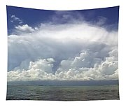 Big Thunderstorm Over The Bay Tapestry