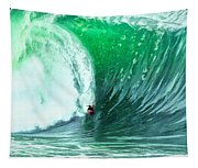 Big Wednesday At The Wedge Tapestry
