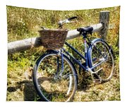Bike At Nantucket Beach Tapestry