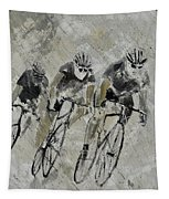 Bikes In The Rain Tapestry