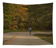 Biking In The Smoky Mountains Tapestry