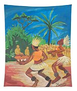 Bikutsi Dance 2 From Cameroon Tapestry