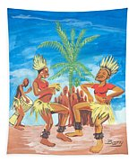 Bikutsi Dance 3 From Cameroon Tapestry
