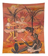 Bikutsi Dance From Cameroon Tapestry