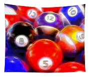 Billiard Balls On The Table Tapestry