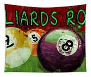 Billiards Room Abstract  Tapestry