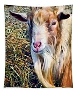 Billy Goat Closeup Tapestry
