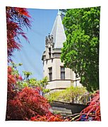 Biltmore And Japanese Maple Trees Tapestry